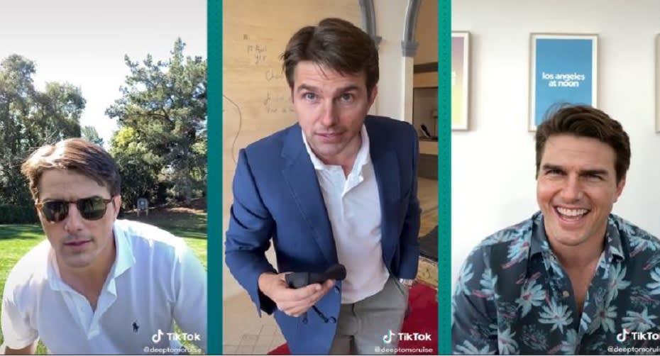 مشاهد من فيديوهات التزييف العميق للممثل الأمريكي توم كروز