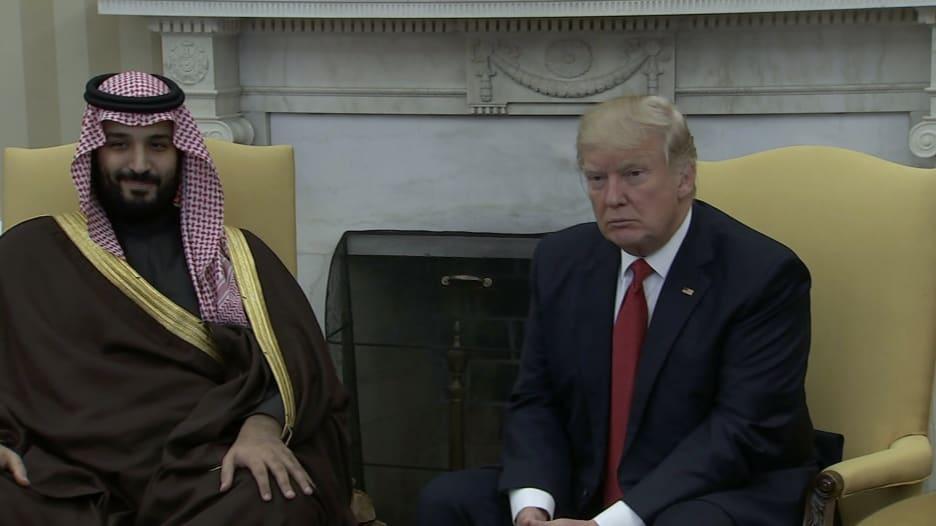 شاهد.. ترامب يستقبل ولي ولي العهد السعودي بالبيت الأبيض