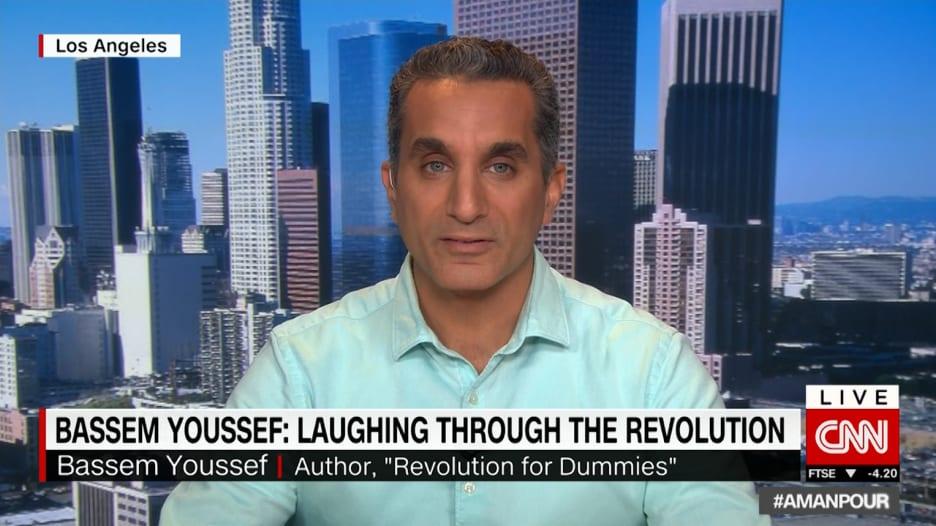 باسم يوسف يعلق لـCNN على عدم خروج مظاهرات بعد الإفراج عن مبارك