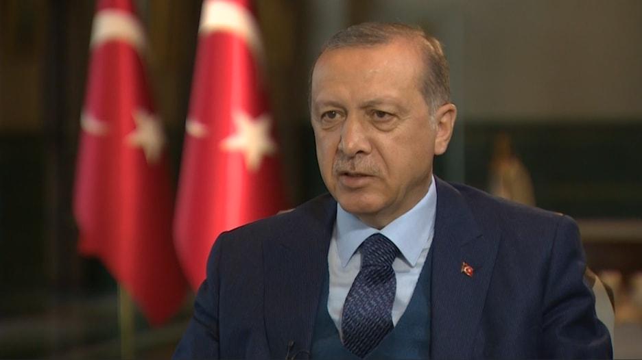 """أردوغان لـCNN: """"الاتحاد الأوروبي فشل في إنجاز وعوده لنا.. ونتطلع للعمل مع ترامب"""""""