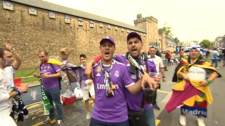 مشجعو ريال مدريد ويوفنتوس يستعدون لنهائي أبطال أوروبا