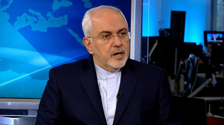 ظريف لـCNN: حشد تحالف مضاد لإيران وعزل قطر سياسة خاطئة