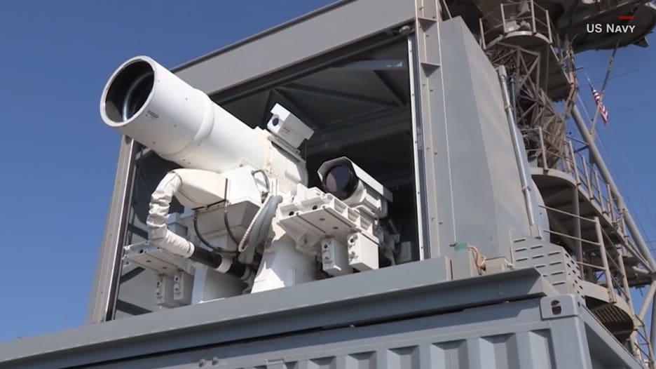 شاهد دقة أول سلاح ليزر حي في العالم لدى البحرية الأمريكية