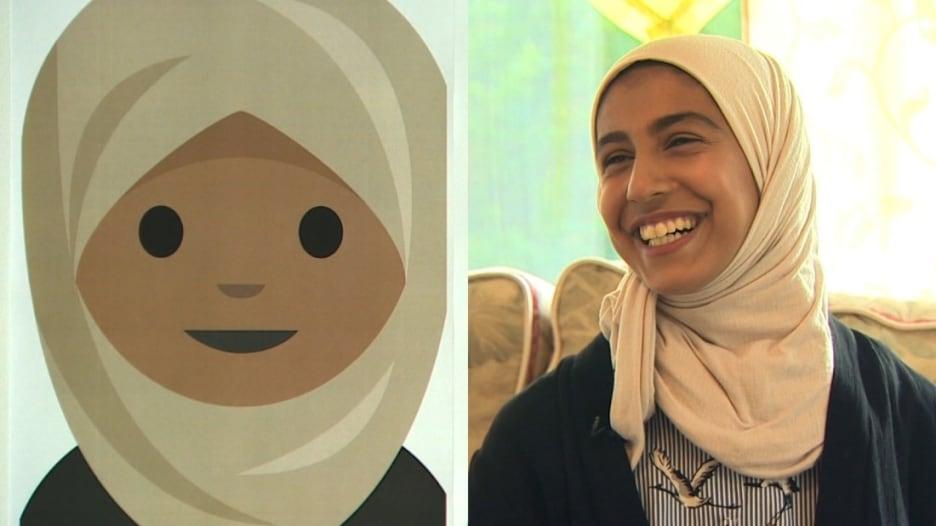 """فتاة سعودية تبتكر """"إيموجي"""" ترتدي الحجاب"""
