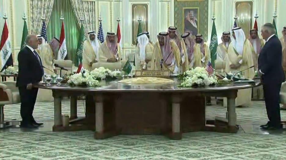 الملك سلمان والعبادي يطلقان مجلس التنسيق السعودي العراقي بحضور أمريكي