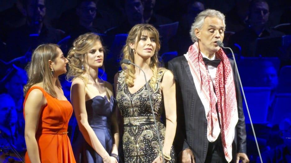 """أوبرا """"أندريا بوتشيلي"""" تصدح في مدينة جرش بالأردن"""