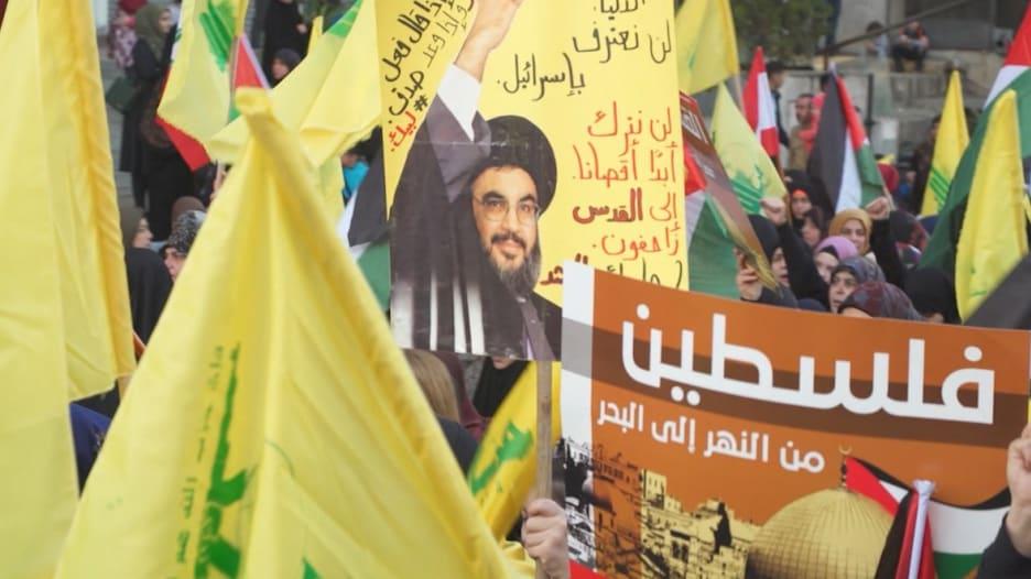 مظاهرة ضخمة لحزب الله ضد أمريكا.. ونصر الله: بداية النهاية