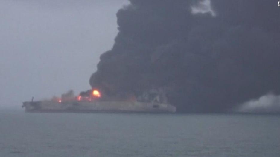 """احتمال انفجار ناقلة نفط إيرانية قد يؤدي إلى """"كوارث بيئية"""""""