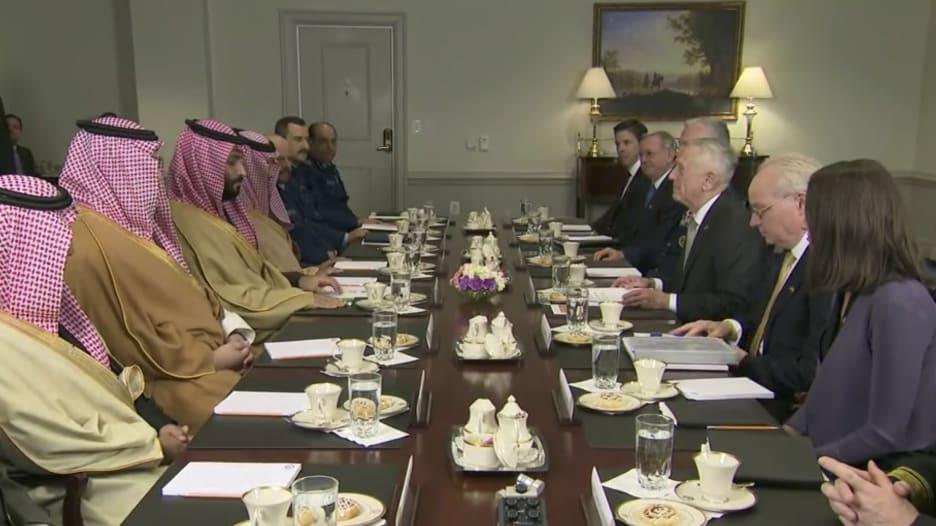 محمد بن سلمان لوزير الدفاع الأمريكي: نتشارك المخاطر والمصالح أيضا