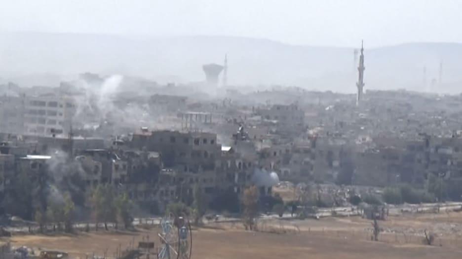 شاهد.. استمرار عمليات النظام السوري بالمناطق المحيطة بدمشق