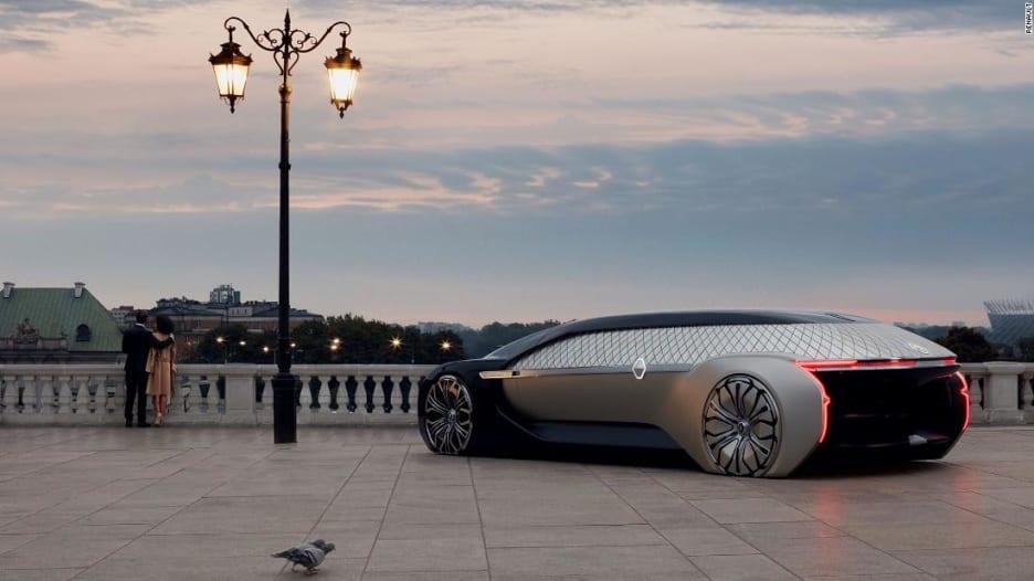 """سيارة """"رينو"""" ذاتية القيادة بـ""""صالة"""" فاخرة داخلها"""