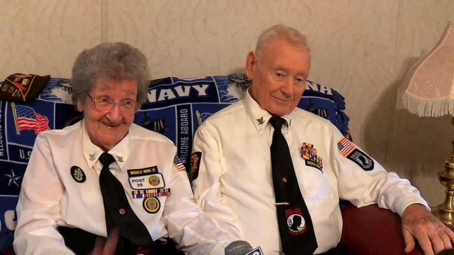 خاضا الحرب العالمية الثانية ومتزوجان منذ 72 عاماً