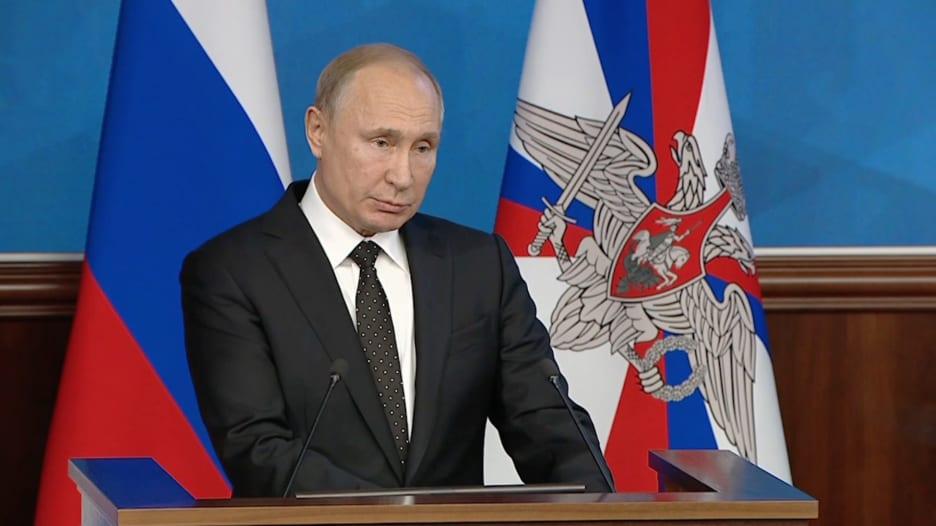 خطاب عسكري حاد من بوتين وانزعاج روسي من أمريكا