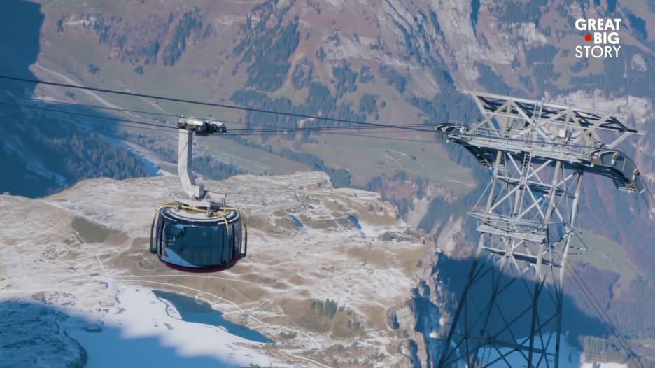 بواسطة العربات الكهربائية.. اكتشف أجمل جبال العالم بسويسرا