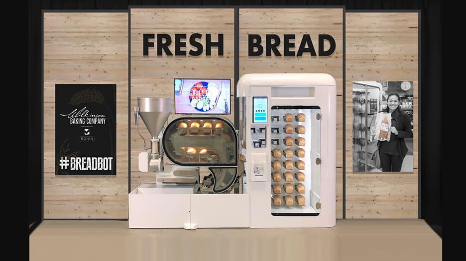 هذه هي آلة البيع التي تخبز الخبز بنفسها