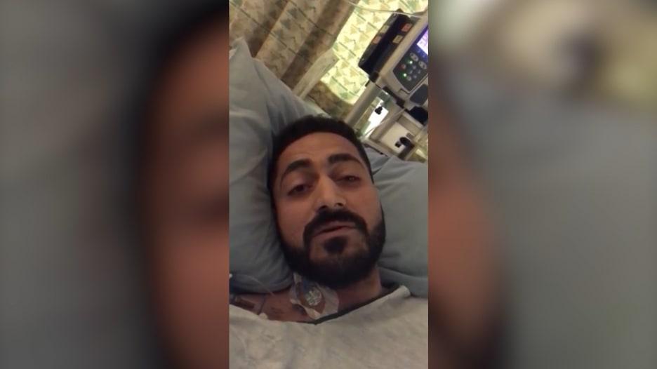 وسيم الساطي.. ناج من المجزرة يوجه رسالة لمتابعيه من المستشفى