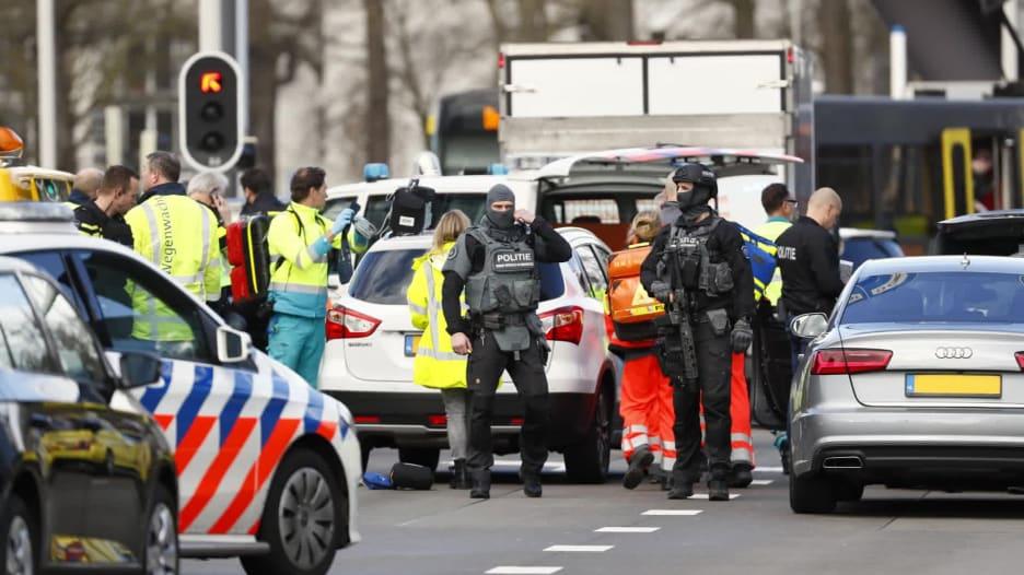 صور تظهر اللحظات الأولى بعد إطلاق نار في هولندا