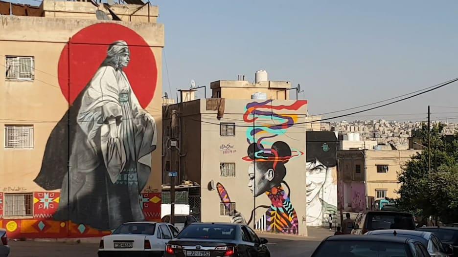 فنانون ينقلون فن الغرافيتي إلى أحياء وحارات عمّان القديمة