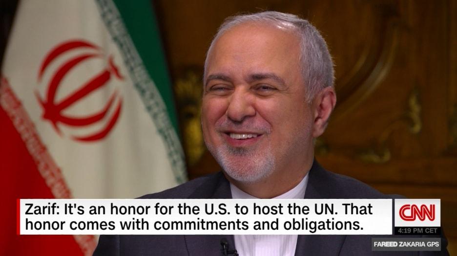 ماذا قال جواد ظريف لـCNN حول ظهور بومبيو عبر قناة إيرانية؟