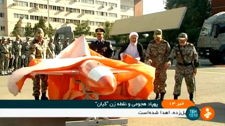 """إيران تكشف النقاب عن طائرة """"كيان"""" بدون طيار الجديدة"""