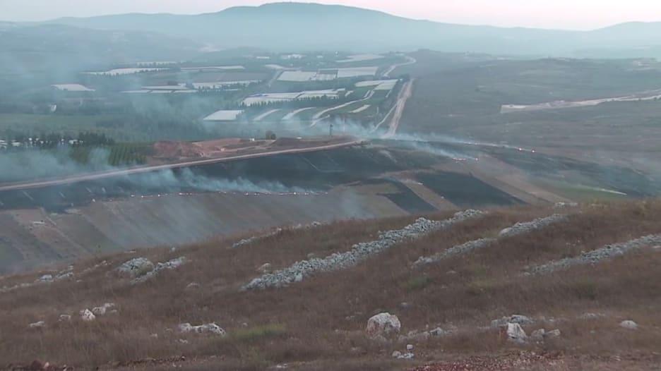 مراسل CNN في مارون الراس على الحدود اللبنانية الإسرائيلية