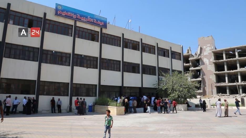 مدارس الرقة تستعد لفتح أبوابها بعد تأهيلها من الدمار على يد داعش