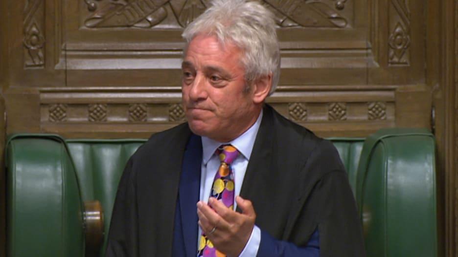 كلمة رئيس البرلمان البريطاني لإعلان استقالته بموعد البريكست
