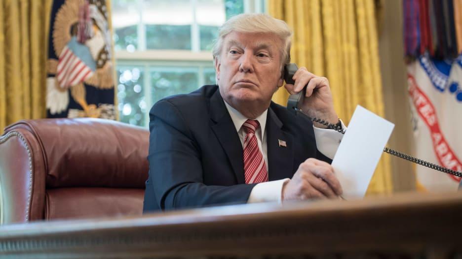 صورة للرئيس الأمريكي دونالد ترامب