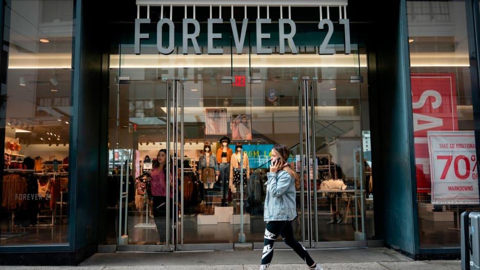 علامة فورايفر 21 التجارية تعلن إفلاسها
