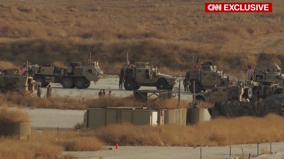فيديو حصري لأكبر انسحاب للقوات الأمريكية من سوريا