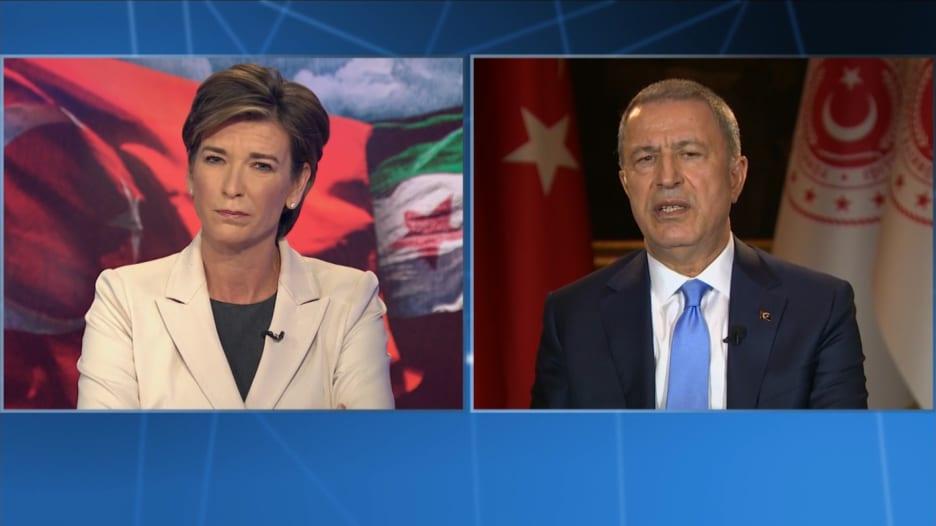 """وزير دفاع تركيا يرد لـCNN على مزاعم """"جرائم حرب"""" في سوريا"""