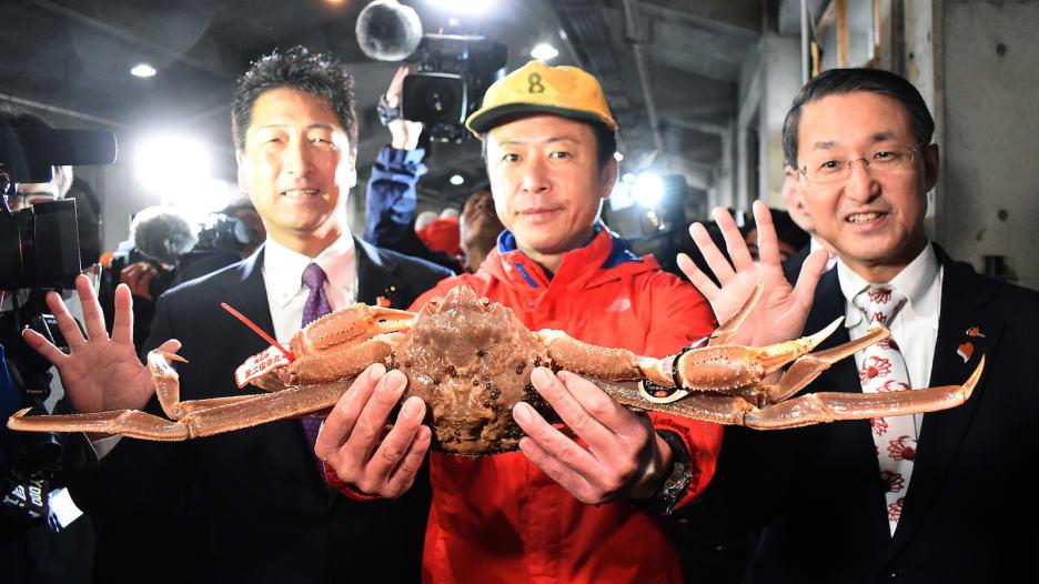 سرطان بحر يباع بـ 46 ألف دولار في اليابان