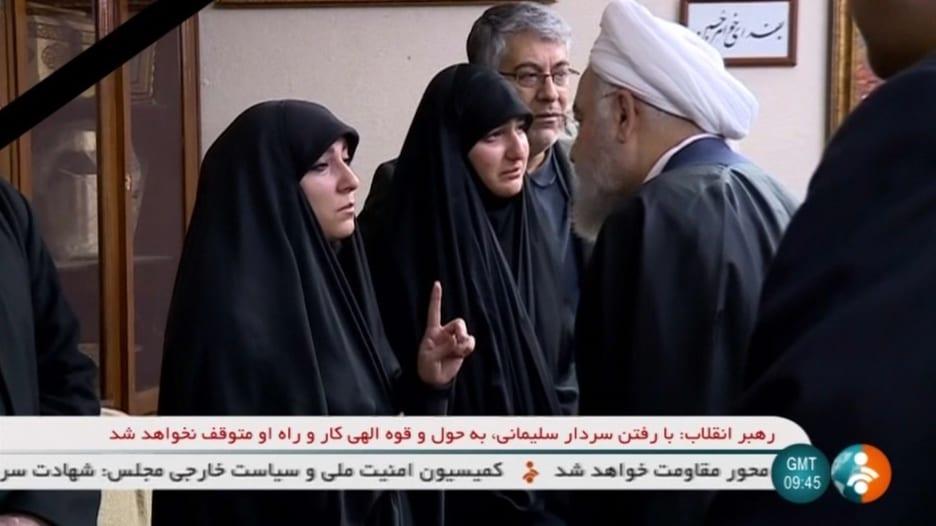شاهد.. ابنة سليماني تسأل روحاني عن الانتقام لوالدها