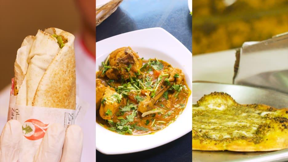 مخابز السعادة و مطعم الإبراهيمي ومطعم زهرة لبنان في أبوظبي، الإمارات العربية المتحدة