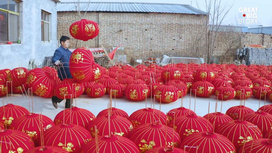 كيف تبدو صناعة المصابيح الصينية العملاقة في الصين؟