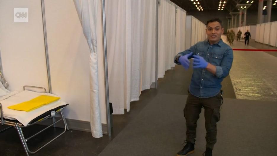 داخل مستشفى ميداني في نيويورك  بـ1000 سرير لعلاج مرضى فيروس كورونا