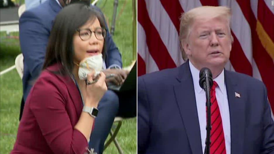 ترامب ينهي مؤتمرًا صحفيًا غاضبًا بعد سؤال مراسلة ذات ملامح آسيوية: اسألي الصين