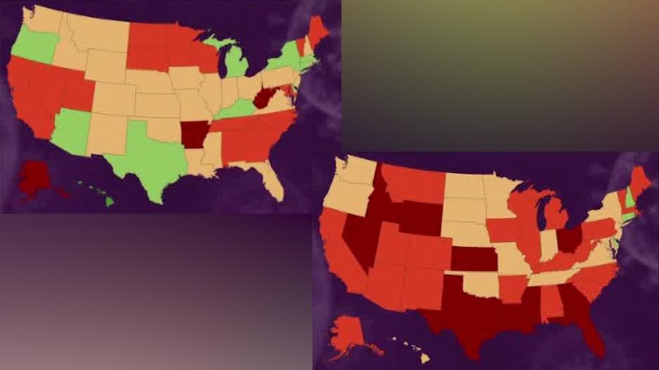 خرائط توضح انفجاراً في حالات الإصابة بفيروس كورونا في أمريكا