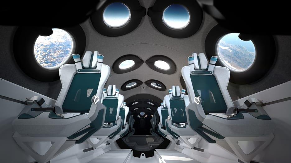 بـ16 كاميرا وعشرات النوافذ.. جولة داخل مقصورة فيرجن غالاكتك التي ستنقل السياح إلى الفضاء