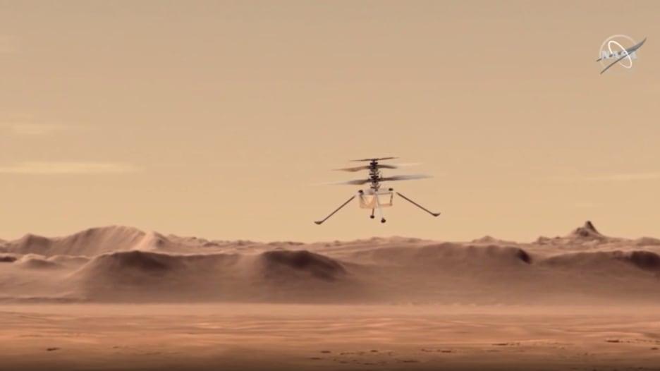 مروحية تحلق لأول مرة في المريخ.. ناسا تبدأ مهمة للبحث عن حياة بالكوكب الأحمر