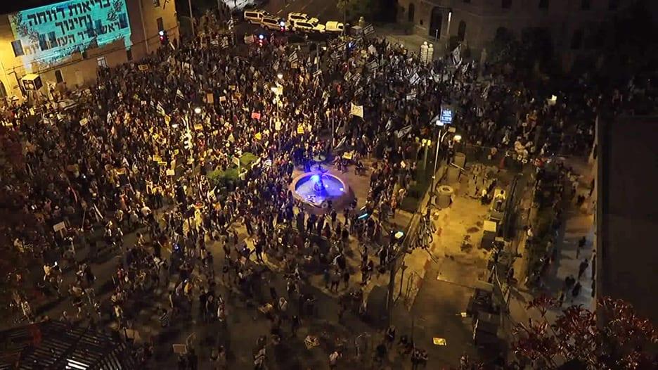 أكبر مظاهرة في القدس ضد نتنياهو بسبب قضايا الفساد وإدارته لأزمة كورونا