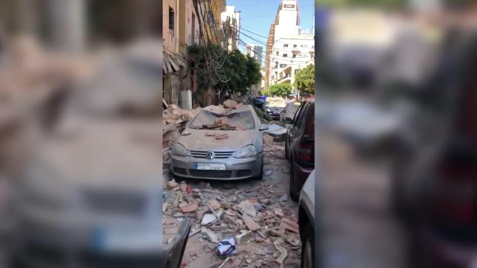 كاميرا CNN بالعربية ترصد آثار انفجار مرفأ بيروت من وسط الركام