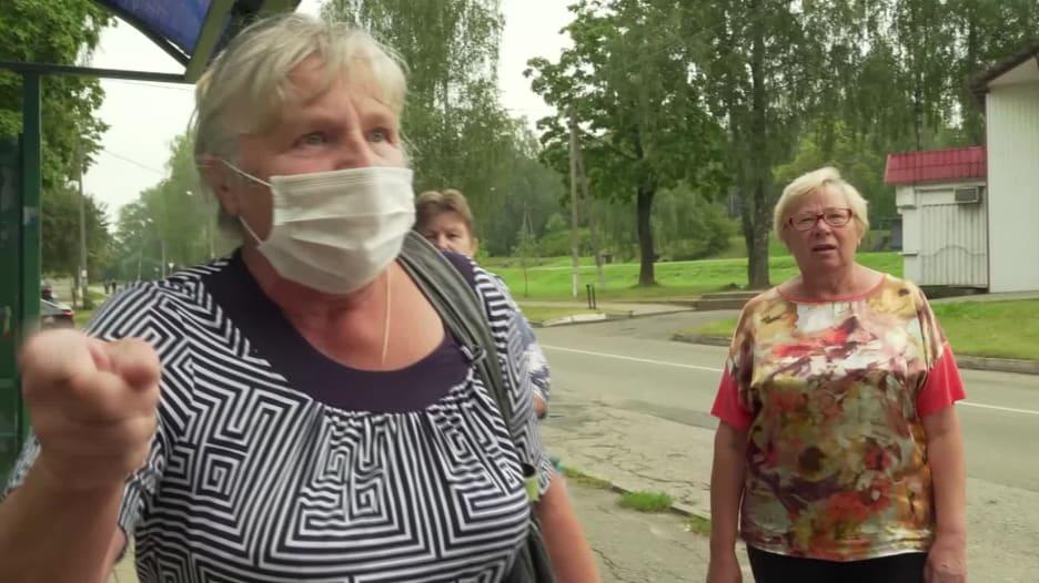 سيدة بيلاروسيّة لمذيع CNN: ارحل يا شيطان