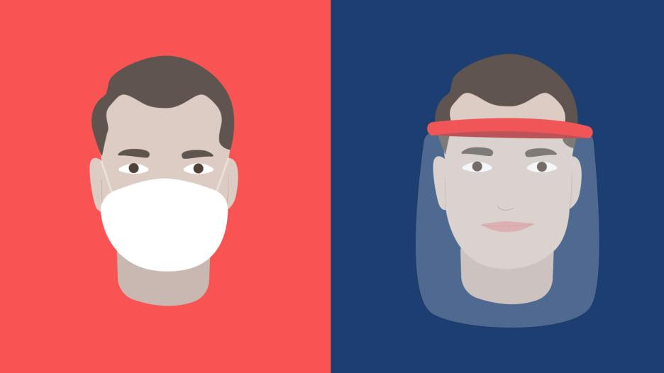 أيهما أفضل للوقاية من فيروس كورونا.. الكمامة أم درع الوجه البلاستيكي؟