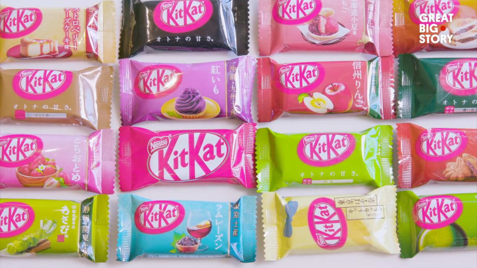 """قد لا تخطر ببالك.. لدى اليابان أكثر من 400 نوع من شوكولاتة """"كيت كات"""""""