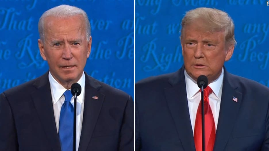شاهد.. ترامب وبايدن يتبادلان الاتهامات حول فيروس كورونا في آخر مناظرة بينهما