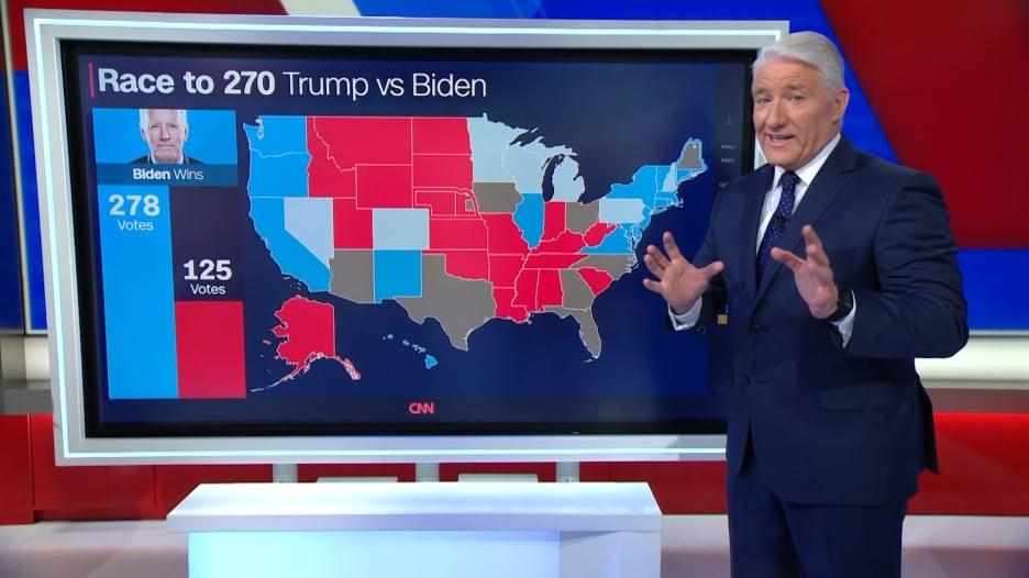 الطريق إلى 270 صوتاً.. هكذا يحاول بايدن استعادة السيطرة على ولايات استحوذ عليها ترامب