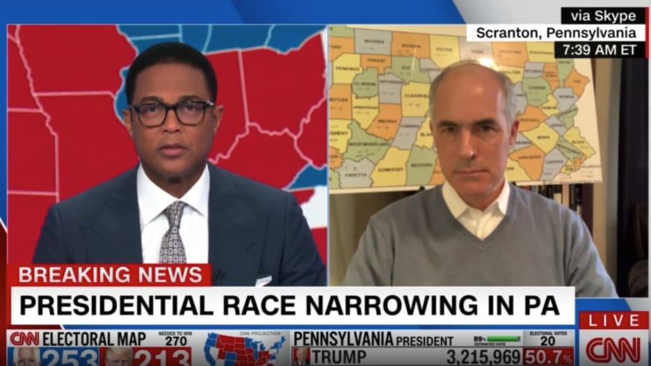 سيناتور بنسلفانيا لـCNN: بايدن سيفوز بالانتخابات الأمريكية لهذا السبب