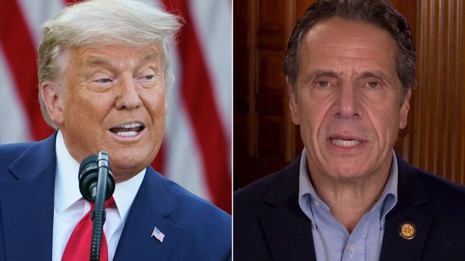 ترامب يهدد بحرمان سكان نيويورك من لقاح كورونا.. شاهد كيف رد حاكم الولاية