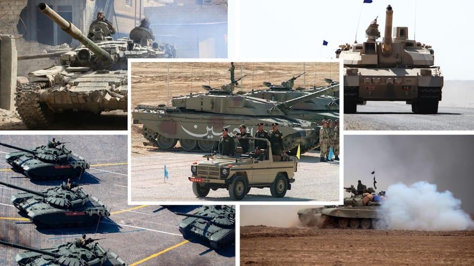 بأرقام 2021.. أكثر 10 جيوش امتلاكاً للدبابات في المنطقة.. سوريا تتصدر ومصر تتفوق على إيران وتركيا وإسرائيل